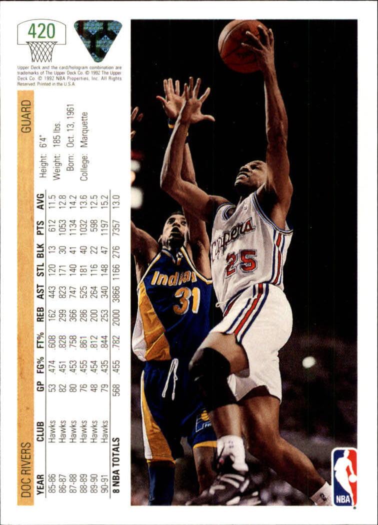thumbnail 339 - 1991-92 Upper Deck Basketball Card Pick 251-500