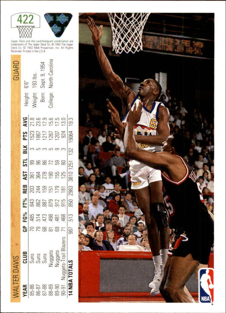 thumbnail 331 - 1991-92 Upper Deck Bk Cards 251-500 +Rookies A2500 - You Pick - 10+ FREE SHIP