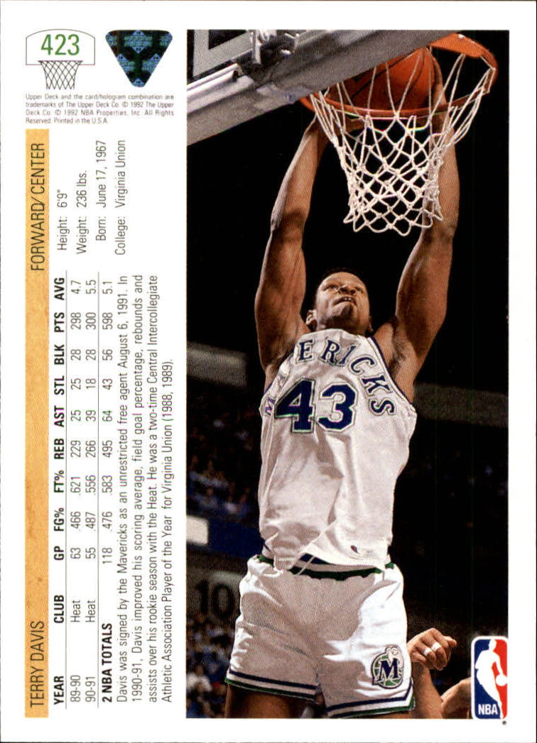 thumbnail 333 - 1991-92 Upper Deck Bk Cards 251-500 +Rookies A2500 - You Pick - 10+ FREE SHIP