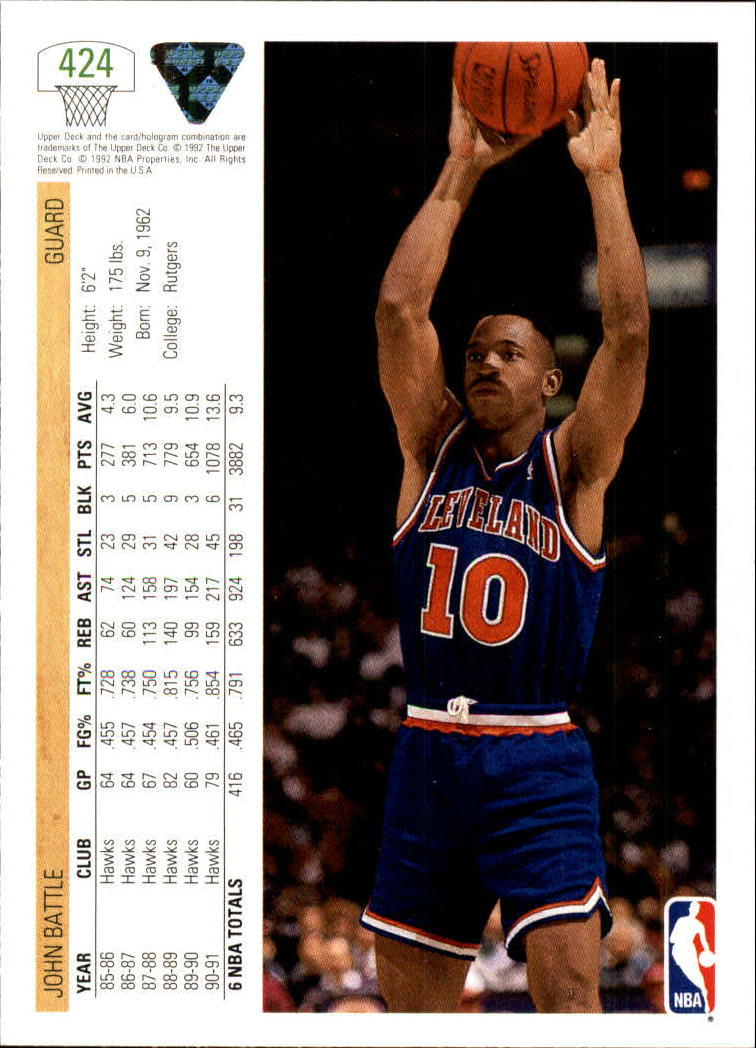 thumbnail 335 - 1991-92 Upper Deck Bk Cards 251-500 +Rookies A2500 - You Pick - 10+ FREE SHIP