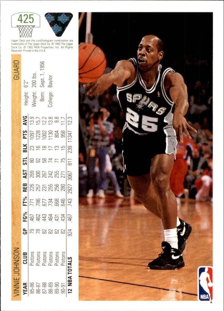 thumbnail 349 - 1991-92 Upper Deck Basketball Card Pick 251-500
