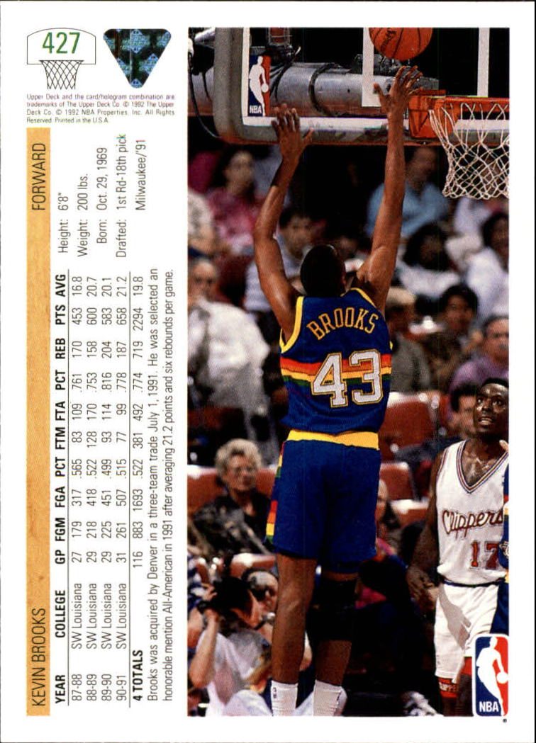 thumbnail 339 - 1991-92 Upper Deck Bk Cards 251-500 +Rookies A2500 - You Pick - 10+ FREE SHIP