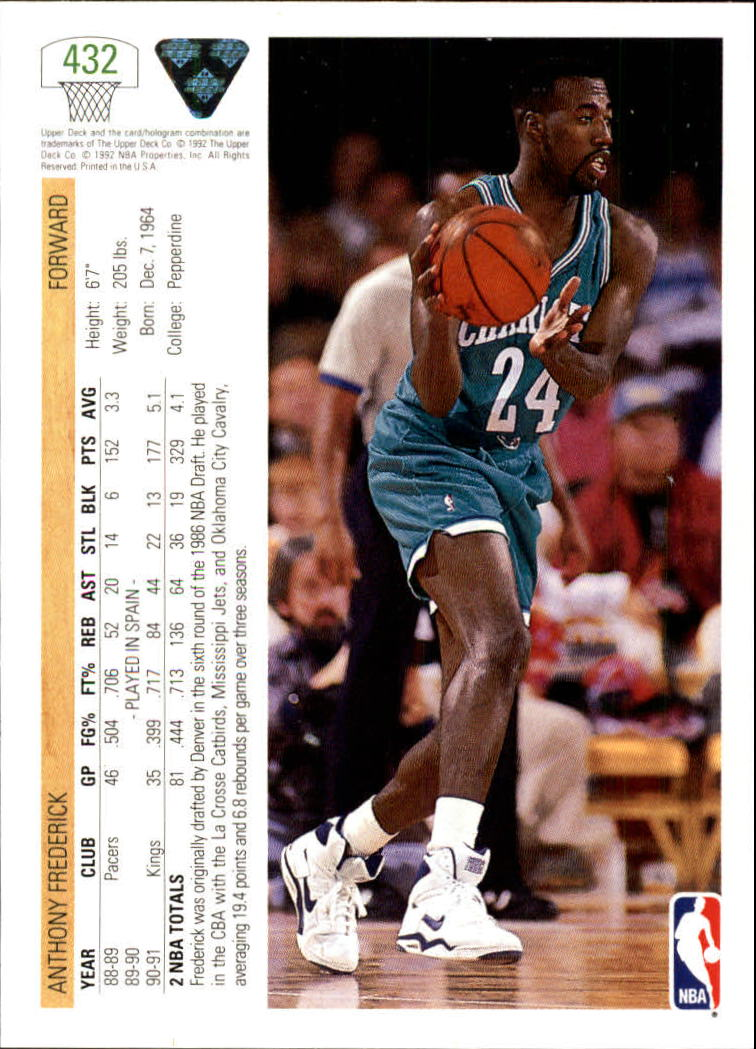 thumbnail 349 - 1991-92 Upper Deck Bk Cards 251-500 +Rookies A2500 - You Pick - 10+ FREE SHIP