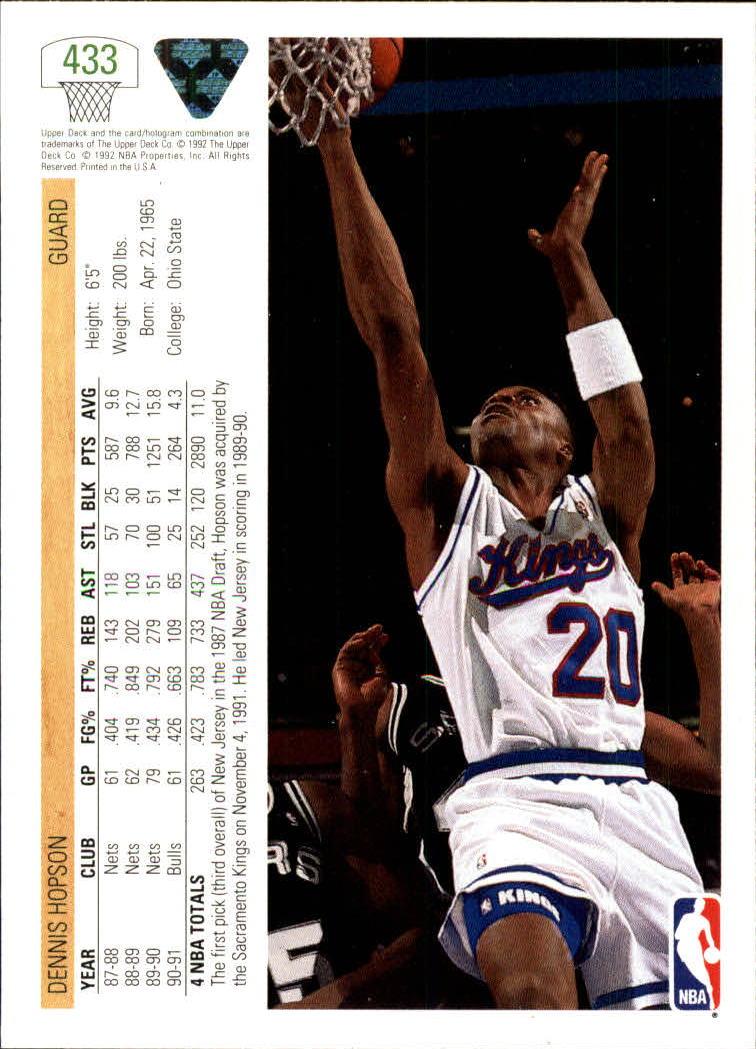 thumbnail 363 - 1991-92 Upper Deck Basketball Card Pick 251-500