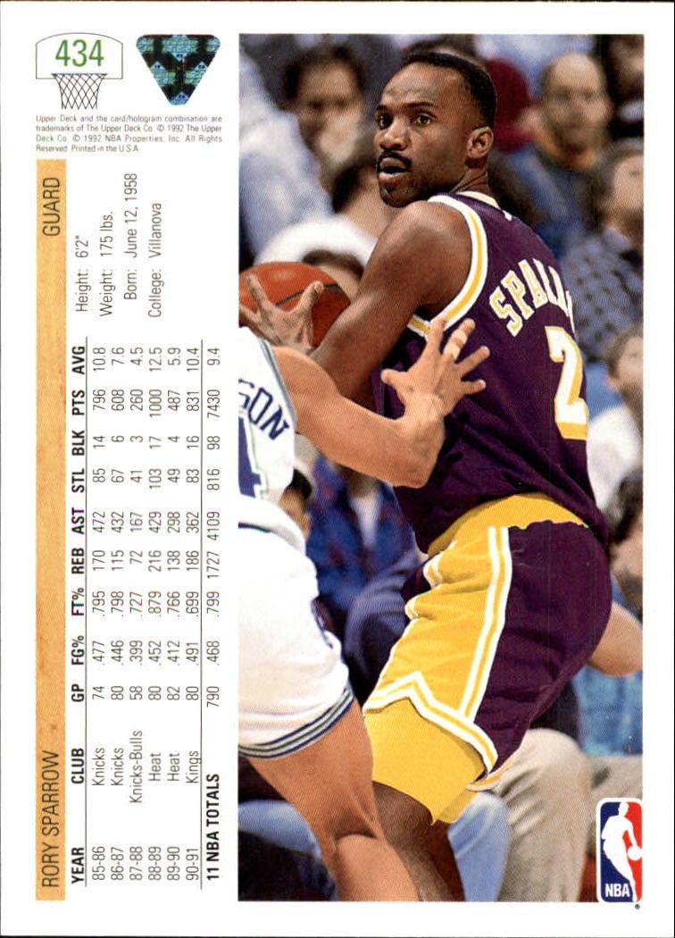 thumbnail 365 - 1991-92 Upper Deck Basketball Card Pick 251-500