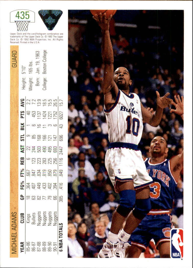 thumbnail 351 - 1991-92 Upper Deck Bk Cards 251-500 +Rookies A2500 - You Pick - 10+ FREE SHIP