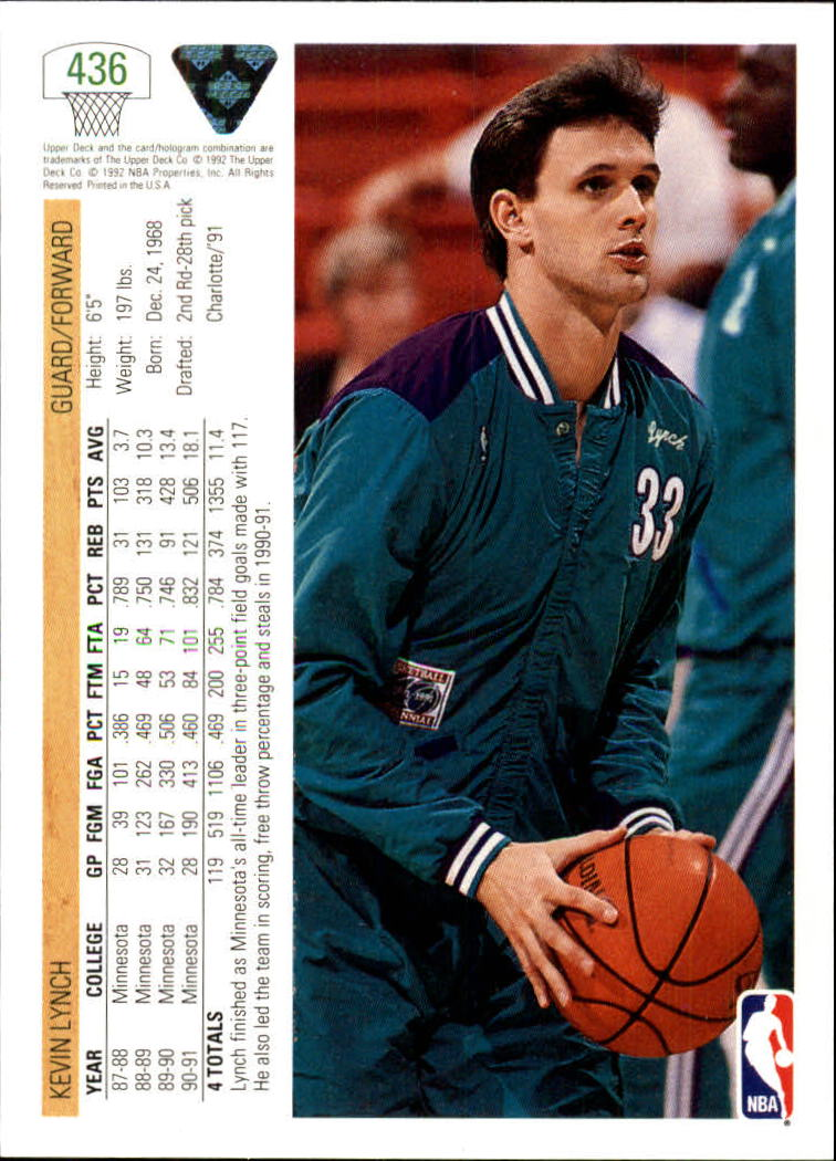 thumbnail 353 - 1991-92 Upper Deck Bk Cards 251-500 +Rookies A2500 - You Pick - 10+ FREE SHIP