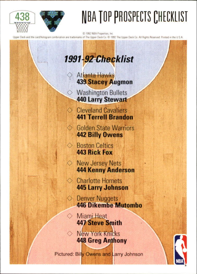 thumbnail 357 - 1991-92 Upper Deck Bk Cards 251-500 +Rookies A2500 - You Pick - 10+ FREE SHIP