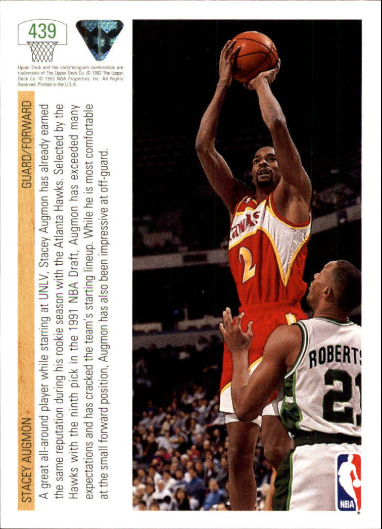 thumbnail 359 - 1991-92 Upper Deck Bk Cards 251-500 +Rookies A2500 - You Pick - 10+ FREE SHIP