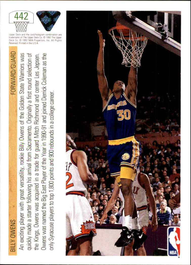 thumbnail 365 - 1991-92 Upper Deck Bk Cards 251-500 +Rookies A2500 - You Pick - 10+ FREE SHIP
