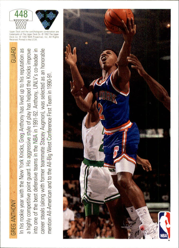thumbnail 377 - 1991-92 Upper Deck Bk Cards 251-500 +Rookies A2500 - You Pick - 10+ FREE SHIP