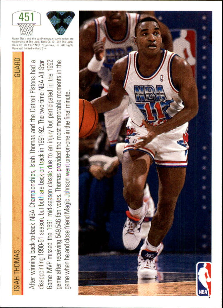 thumbnail 383 - 1991-92 Upper Deck Bk Cards 251-500 +Rookies A2500 - You Pick - 10+ FREE SHIP