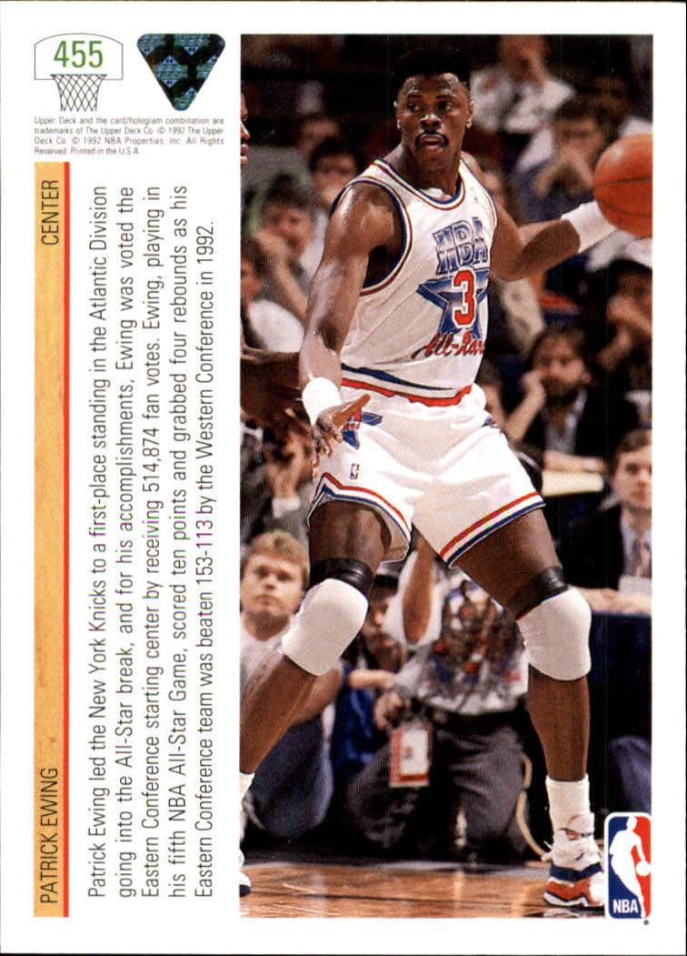 thumbnail 401 - 1991-92 Upper Deck Basketball Card Pick 251-500