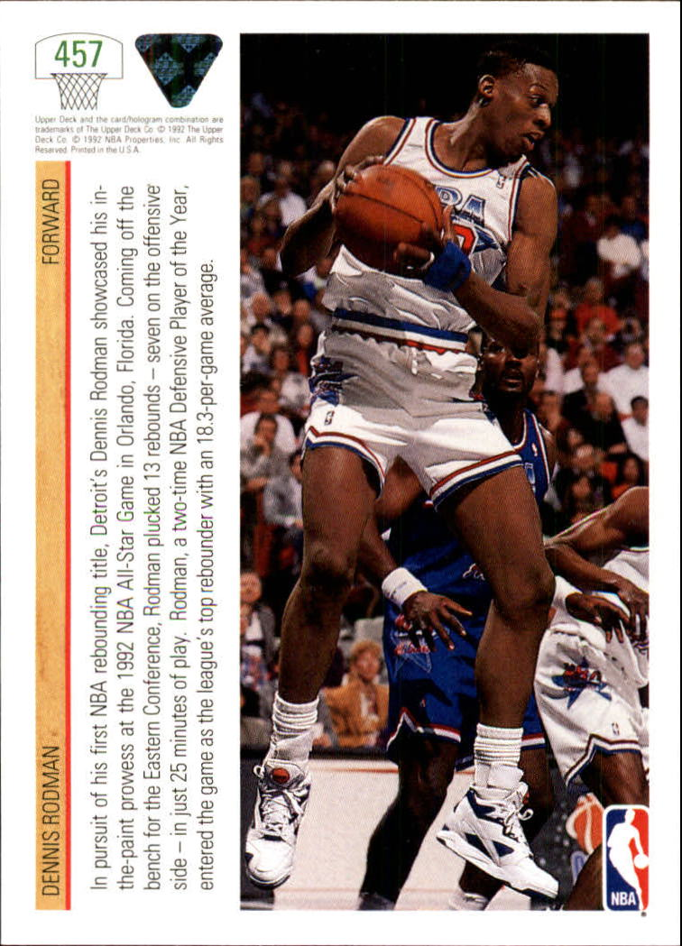 thumbnail 393 - 1991-92 Upper Deck Bk Cards 251-500 +Rookies A2500 - You Pick - 10+ FREE SHIP