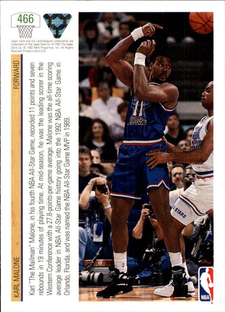 thumbnail 409 - 1991-92 Upper Deck Bk Cards 251-500 +Rookies A2500 - You Pick - 10+ FREE SHIP