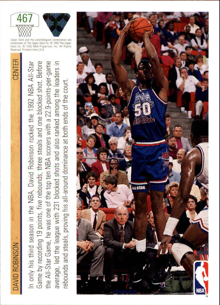 thumbnail 411 - 1991-92 Upper Deck Bk Cards 251-500 +Rookies A2500 - You Pick - 10+ FREE SHIP