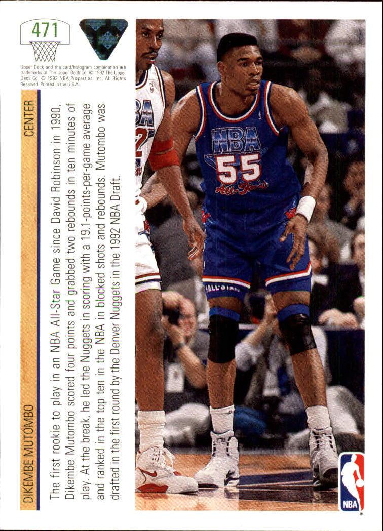 thumbnail 431 - 1991-92 Upper Deck Basketball Card Pick 251-500