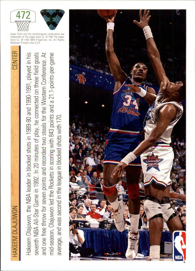 thumbnail 419 - 1991-92 Upper Deck Bk Cards 251-500 +Rookies A2500 - You Pick - 10+ FREE SHIP