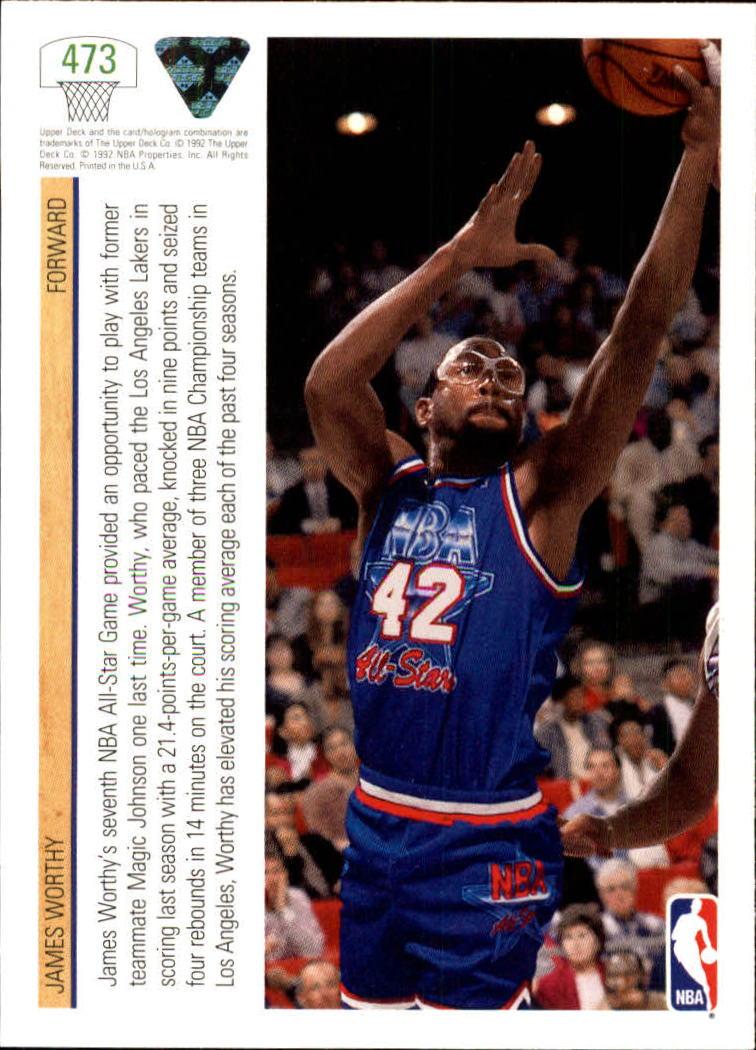 thumbnail 435 - 1991-92 Upper Deck Basketball Card Pick 251-500