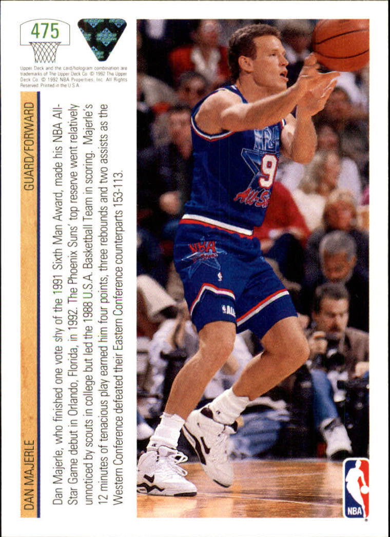 thumbnail 423 - 1991-92 Upper Deck Bk Cards 251-500 +Rookies A2500 - You Pick - 10+ FREE SHIP