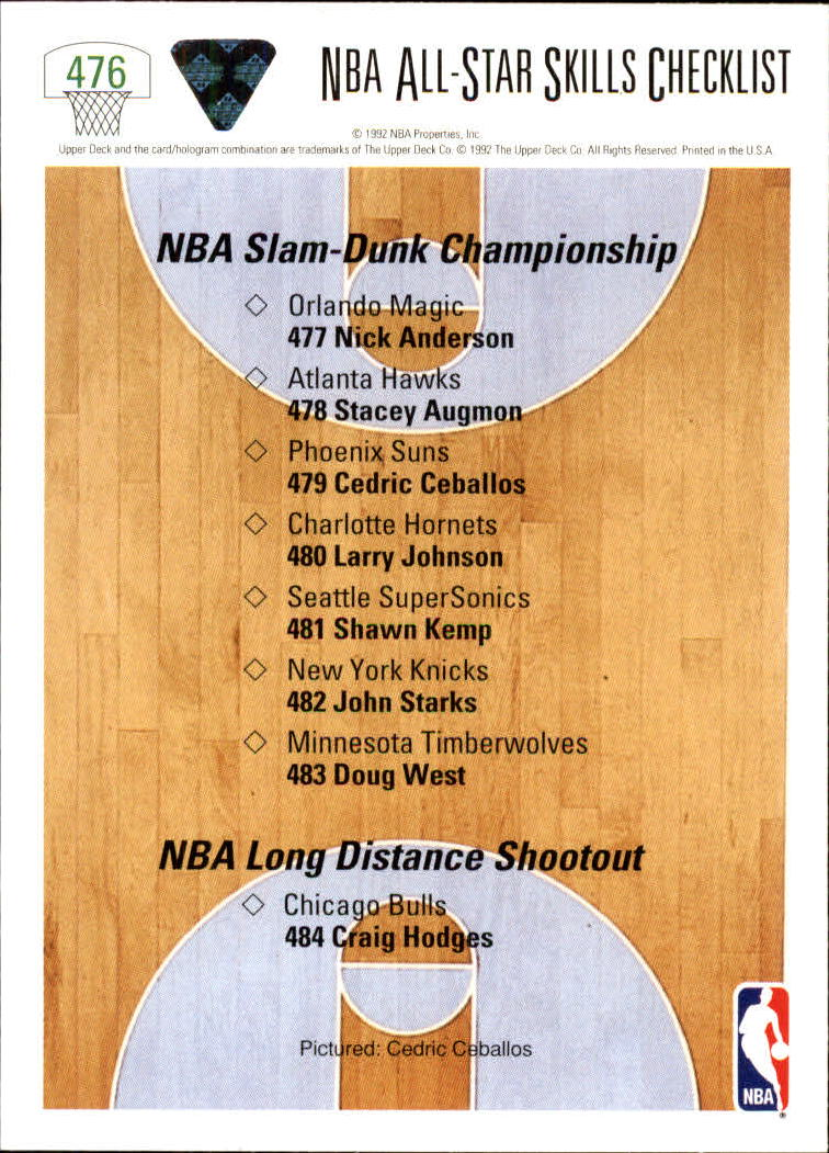 thumbnail 425 - 1991-92 Upper Deck Bk Cards 251-500 +Rookies A2500 - You Pick - 10+ FREE SHIP