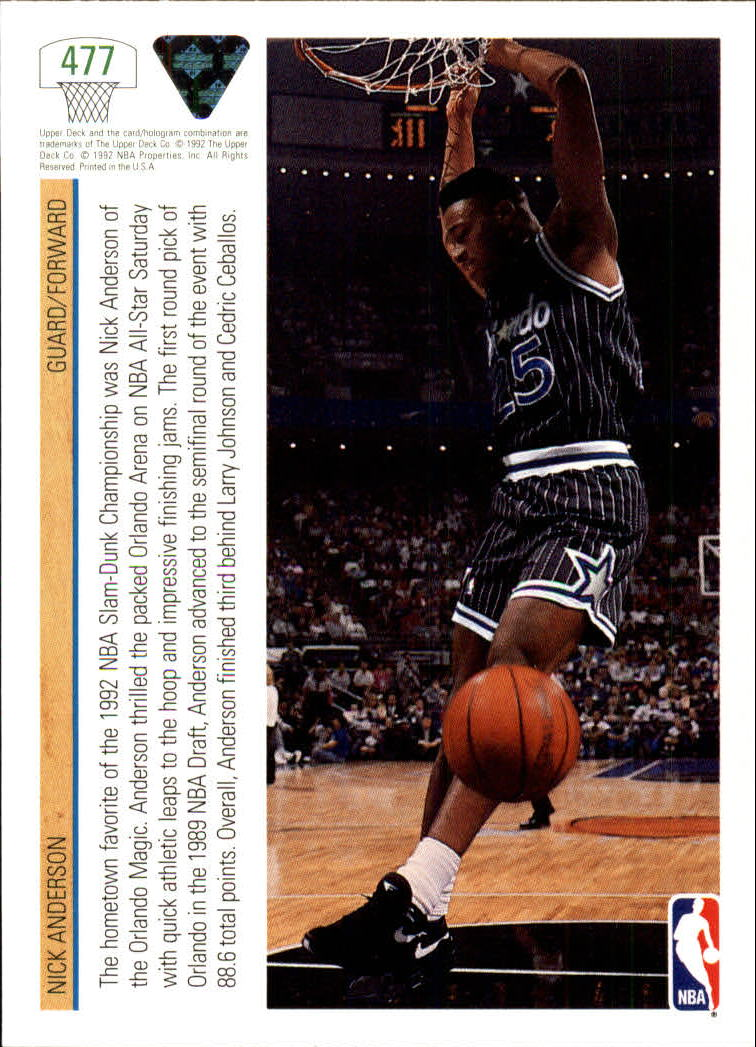 thumbnail 427 - 1991-92 Upper Deck Bk Cards 251-500 +Rookies A2500 - You Pick - 10+ FREE SHIP