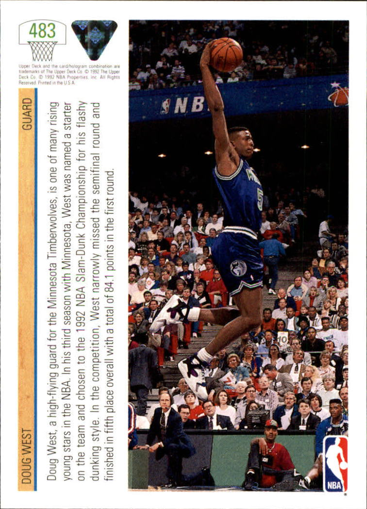 thumbnail 439 - 1991-92 Upper Deck Bk Cards 251-500 +Rookies A2500 - You Pick - 10+ FREE SHIP