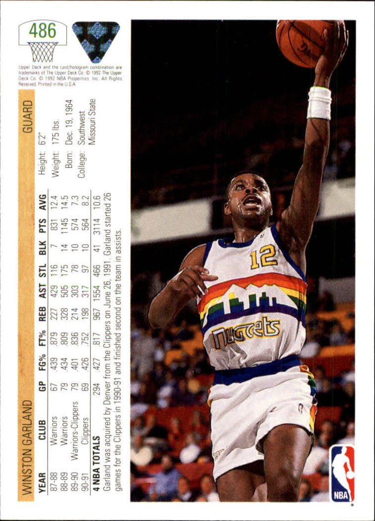 thumbnail 445 - 1991-92 Upper Deck Bk Cards 251-500 +Rookies A2500 - You Pick - 10+ FREE SHIP