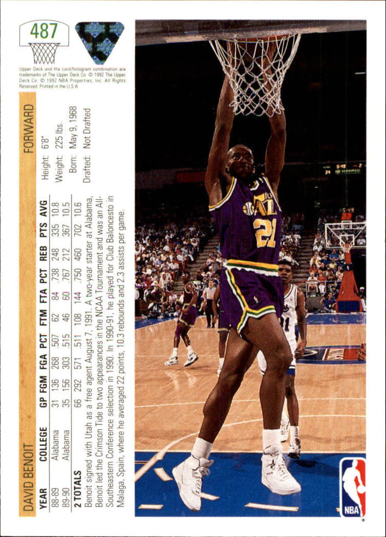 thumbnail 447 - 1991-92 Upper Deck Bk Cards 251-500 +Rookies A2500 - You Pick - 10+ FREE SHIP