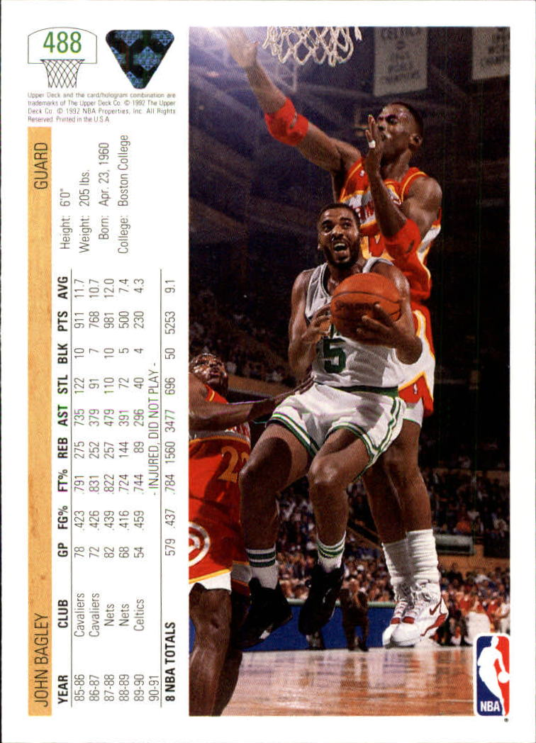 thumbnail 449 - 1991-92 Upper Deck Bk Cards 251-500 +Rookies A2500 - You Pick - 10+ FREE SHIP
