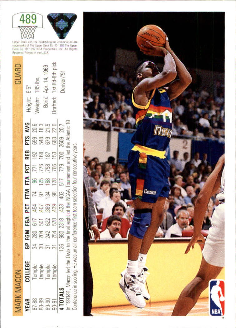 thumbnail 451 - 1991-92 Upper Deck Bk Cards 251-500 +Rookies A2500 - You Pick - 10+ FREE SHIP