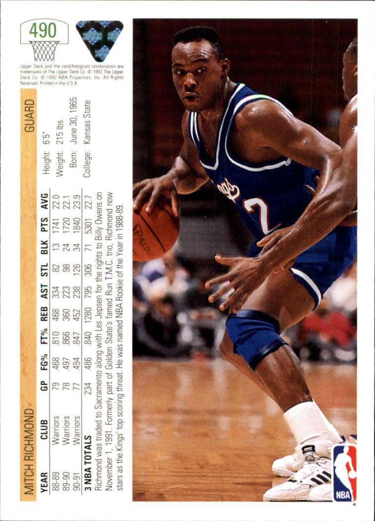 thumbnail 467 - 1991-92 Upper Deck Basketball Card Pick 251-500