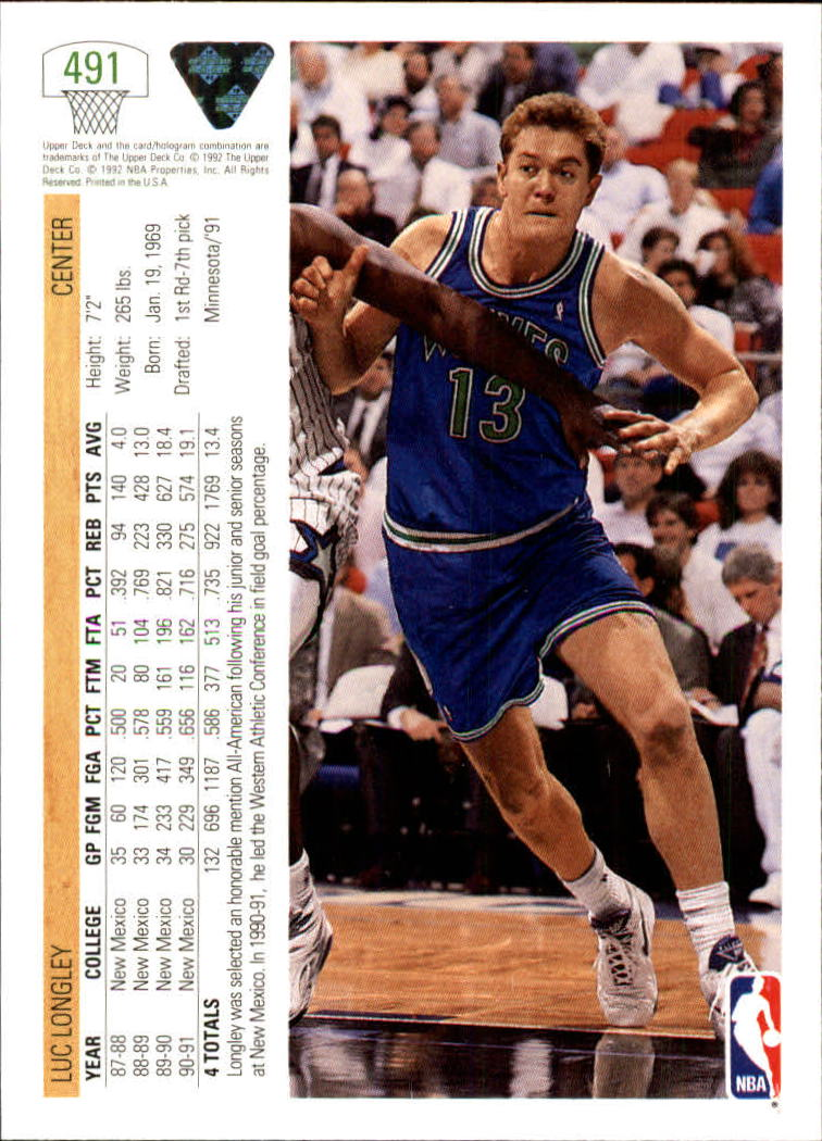 thumbnail 453 - 1991-92 Upper Deck Bk Cards 251-500 +Rookies A2500 - You Pick - 10+ FREE SHIP