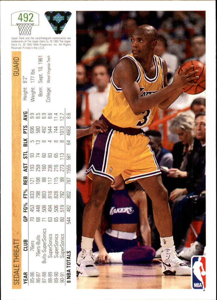 thumbnail 455 - 1991-92 Upper Deck Bk Cards 251-500 +Rookies A2500 - You Pick - 10+ FREE SHIP