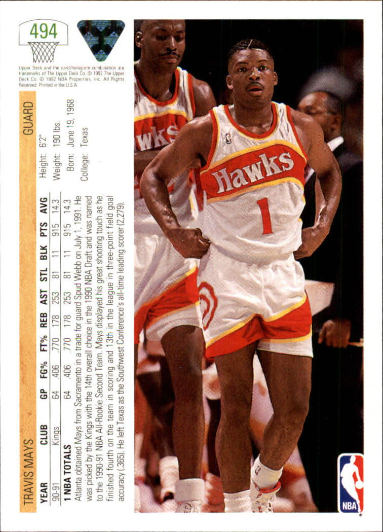 thumbnail 459 - 1991-92 Upper Deck Bk Cards 251-500 +Rookies A2500 - You Pick - 10+ FREE SHIP