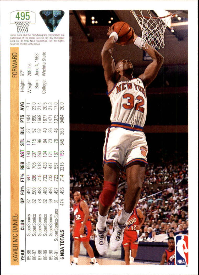thumbnail 477 - 1991-92 Upper Deck Basketball Card Pick 251-500