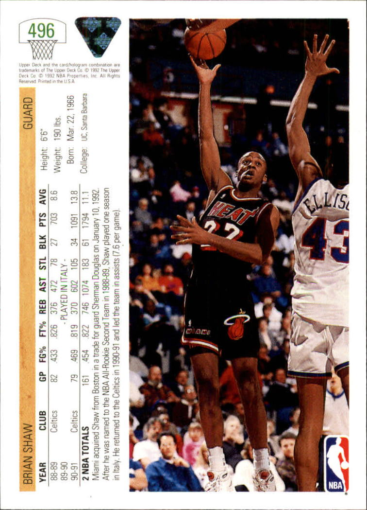 thumbnail 461 - 1991-92 Upper Deck Bk Cards 251-500 +Rookies A2500 - You Pick - 10+ FREE SHIP