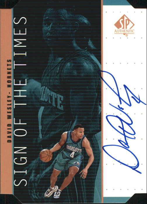 1998-99 SP Authentic Sign of the Times Bronze Basketball Card #DV David Wesley