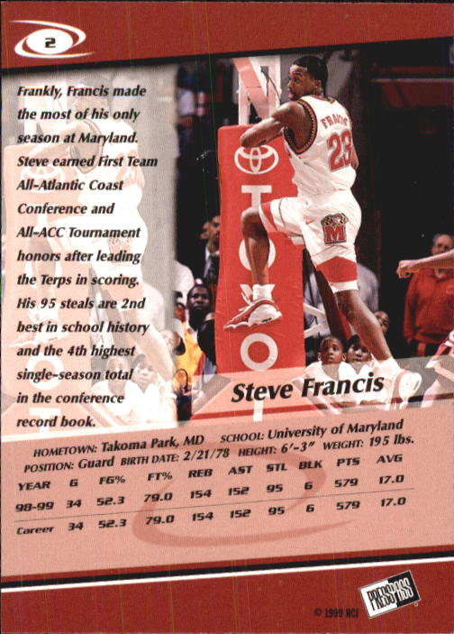 1999-Press-Pass-Basketball-Card-Pick thumbnail 3