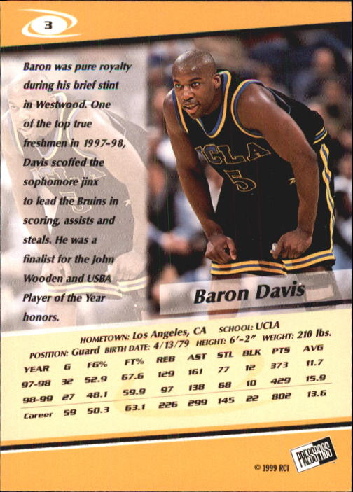 1999-Press-Pass-Basketball-Card-Pick thumbnail 5