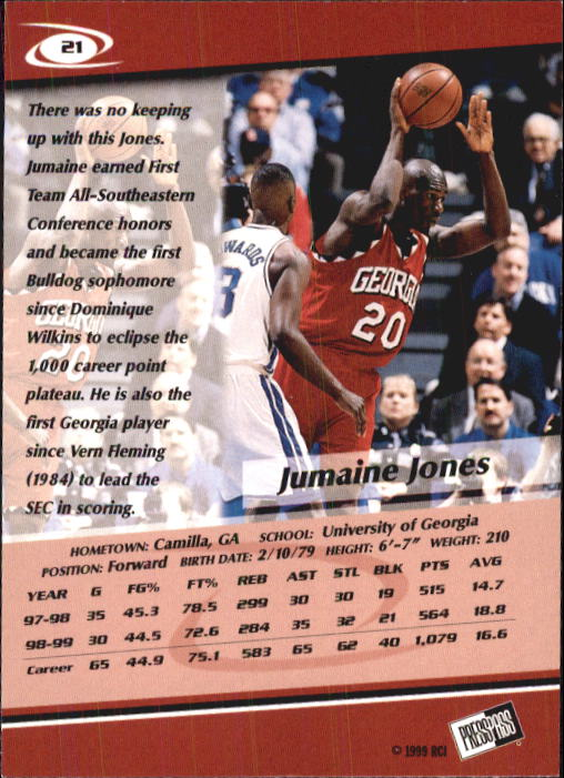 1999-Press-Pass-Basketball-Card-Pick thumbnail 39