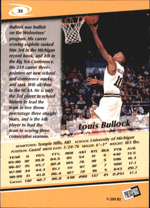 1999-Press-Pass-Basketball-Card-Pick thumbnail 57
