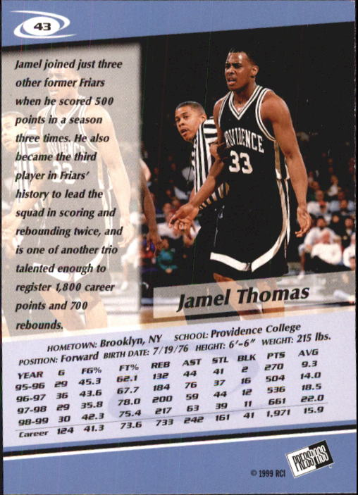 1999-Press-Pass-Basketball-Card-Pick thumbnail 81
