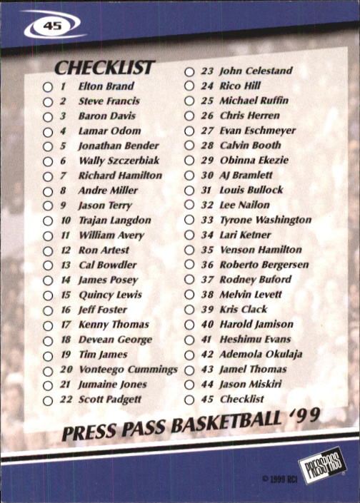 1999-Press-Pass-Basketball-Card-Pick thumbnail 85