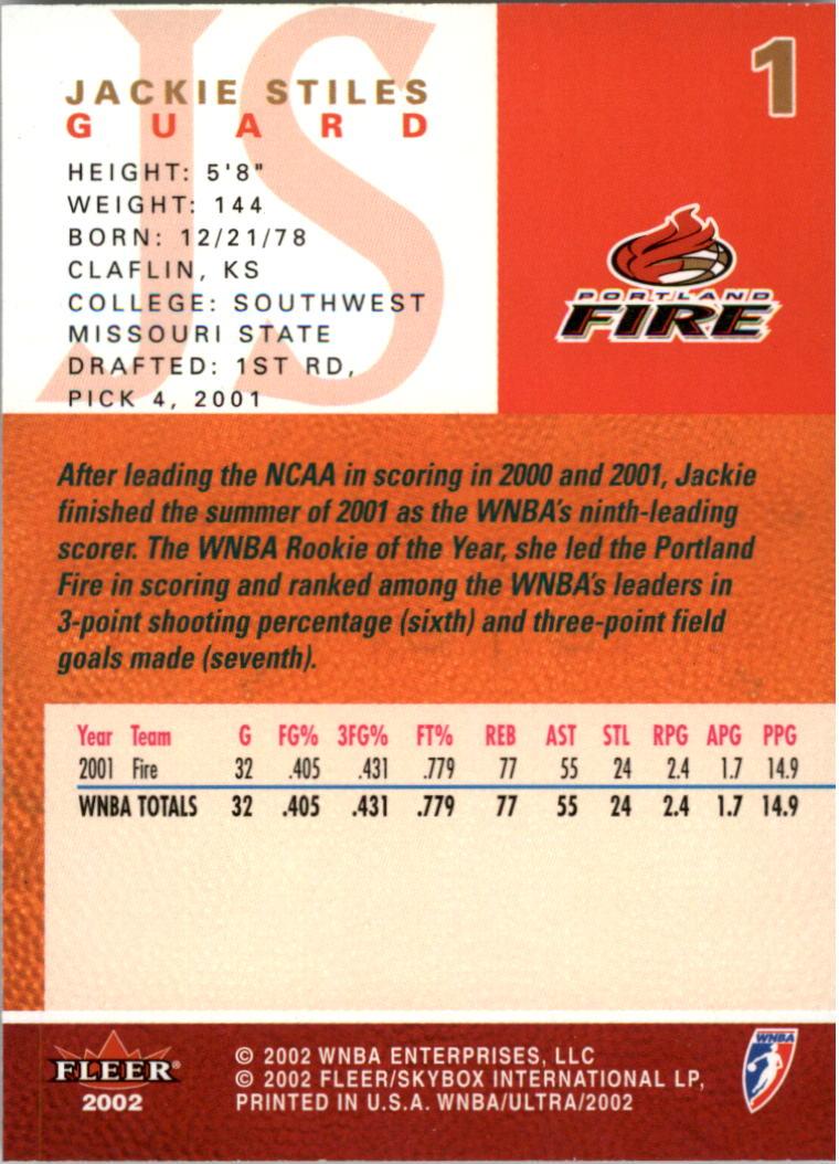 2002-Ultra-Wnba-Basketball-Carte-Choisissez miniature 3