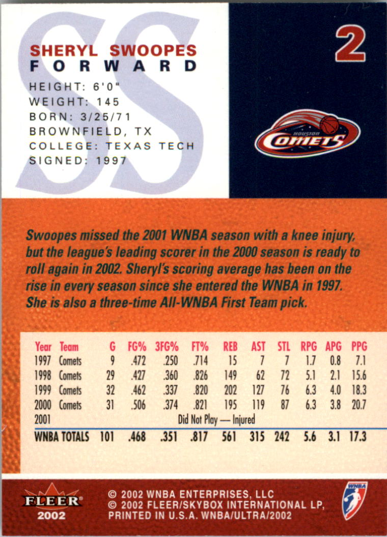 2002-Ultra-Wnba-Basketball-Carte-Choisissez miniature 5
