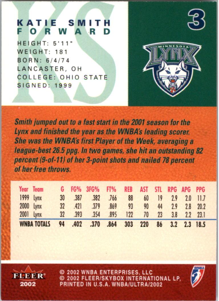 2002-Ultra-Wnba-Basketball-Carte-Choisissez miniature 7
