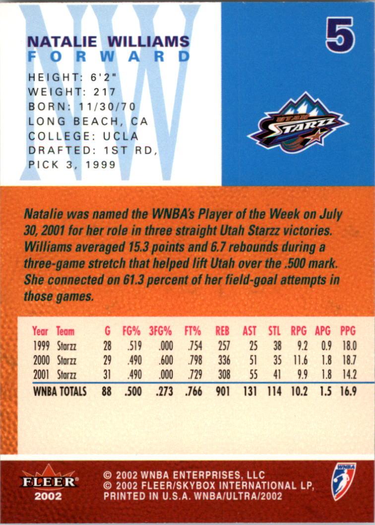 2002-Ultra-Wnba-Basketball-Carte-Choisissez miniature 11