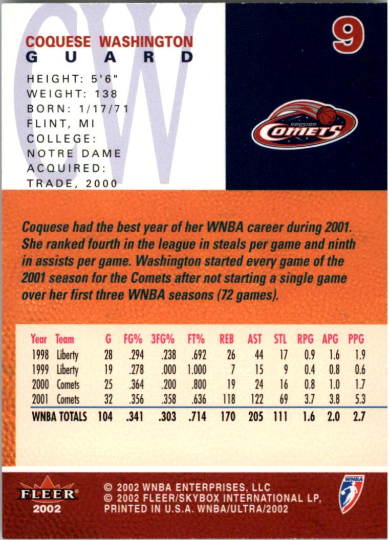 2002-Ultra-Wnba-Basketball-Carte-Choisissez miniature 19