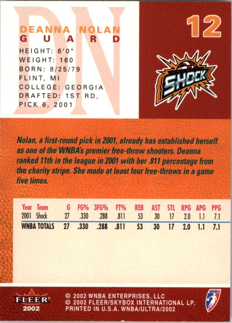 2002-Ultra-Wnba-Basketball-Carte-Choisissez miniature 25